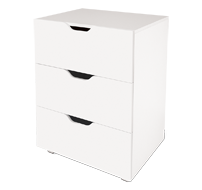 flatpax kids furniture - white 3 drawer unit