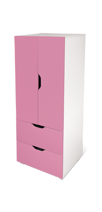 flatpax kids furniture - pink kids wardrobe and drawers