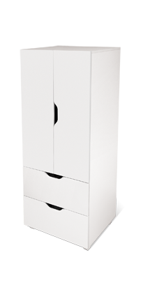 flatpax kids furniture - white kids wardrobe and drawers