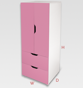 flatpax kids furniture - pink kids wardrobe