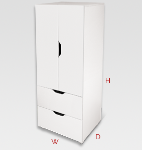 flatpax kids furniture - white kids wardrobe