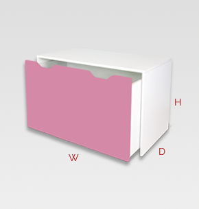 kids furniture - pink kids desk pop up