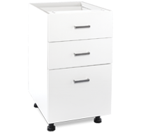 450mm white laundry drawers - 3 drawers
