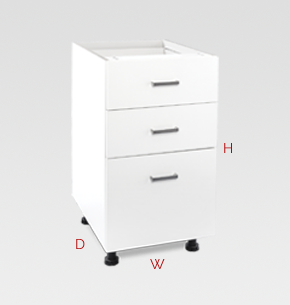 450mm white laundry drawers - 3 drawers specs and instructions