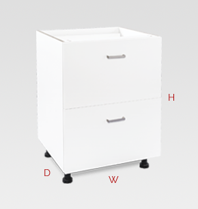 600mm white garage storage drawers - 2 drawers specs and instructions