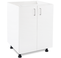 600mm white laundry cupboard