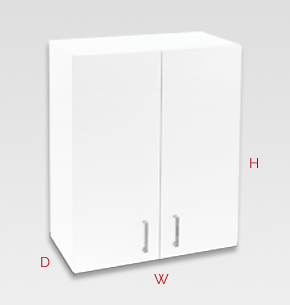 600mm white laundry cupboard - wall specs and instructions