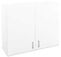 900mm white laundry cupboard - wall